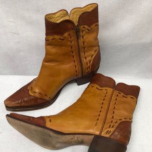 Charlie Horse Lucchese Leather Ankle Western Boots